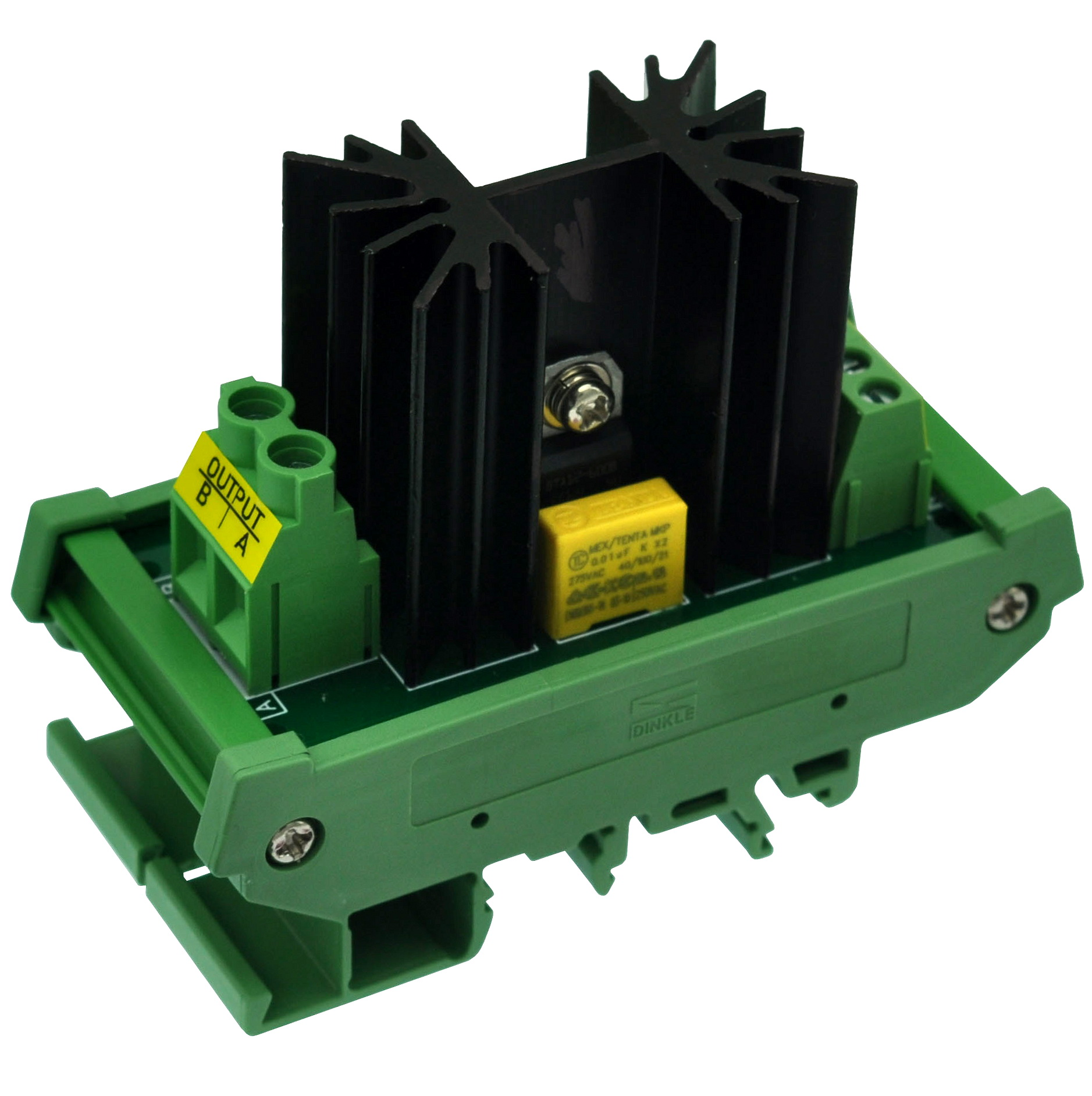 CZH-LABS DIN Rail Mount 12 Amp Solid State Relay SSR Module, In 4~32VDC, Out 100~240VAC. (1 Channel)