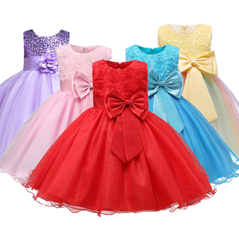1 14 yrs teenagers Girls Dress Wedding Party Princess Christmas Dresse for girl Party Costume Kids