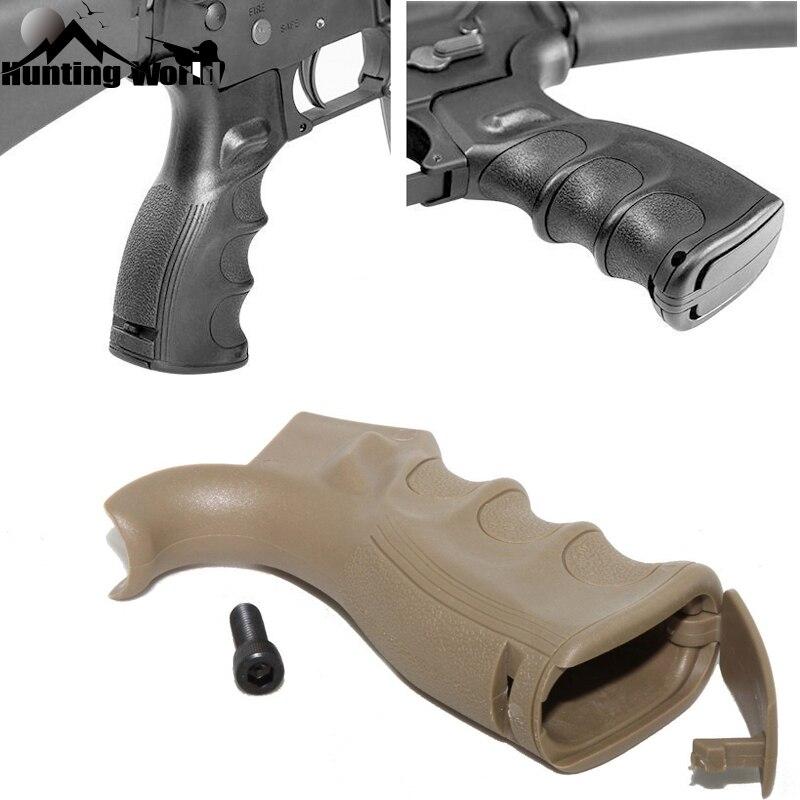 Polímero tático QD Pistol Grip Punho Vertical Foregrip Bipé Dobrável Pega para a Caça Airsoft M4 M16 AR15 Rifle Acessório