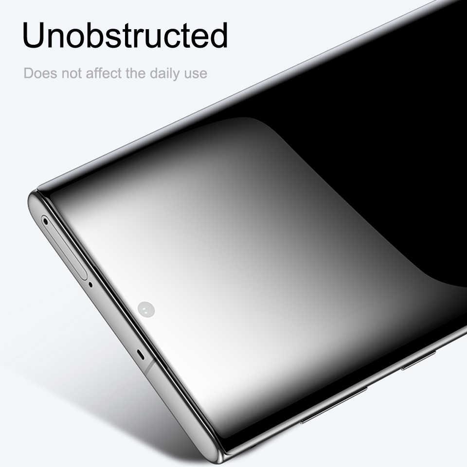 Coque de téléphone en verre trempé pour Samsung Note 10 Plus Pro protection coque en verre accessoires sur Galaxy pas Note10 Not10 10pro verre sécurité tremp téléphone couverture complète junsun