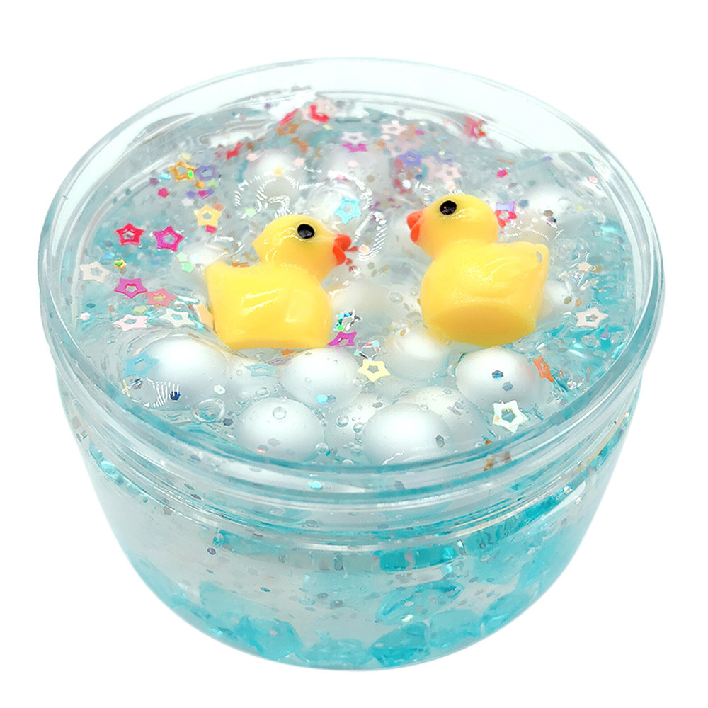 Cute Duck Star Puff Crystal Mud Mixing Cloud Slime Decompression Mud Educational Toys Kids Gift Transparent Glue For Slime #B