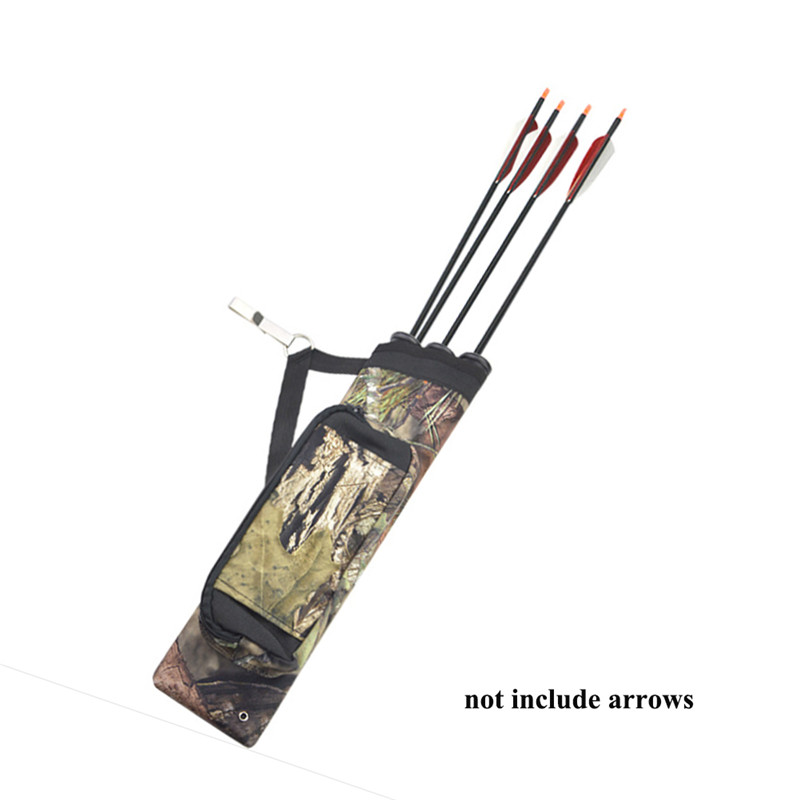 Arrow Bag Oxford Cloth Quiver Arrow Waist Belt Pouch Pocket For Archery Hunting Shooting 1pc