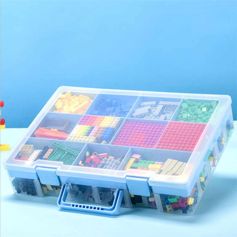 Boite Transparente A Multicouches Extra Large Boite De Rangement Lego Bloc De Construction Jouet Petites Particules Classification Des Pieces Compartiment Fini Aliexpress
