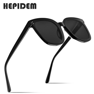Image 2 - HEPIDEM Brand New Korean Design Women Gentle Sunglasses Cat Eye Sunglass Men Oversized Sun glasses for Women gm Jack Bye