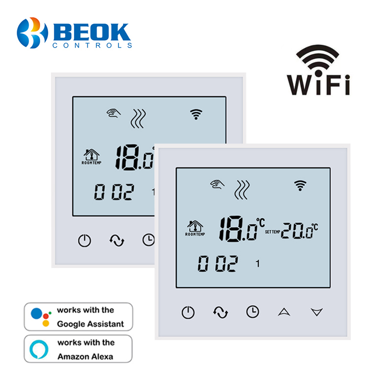 2 Pcs/Pack Thermostat Temperature Controller For Warm Floor Wifi Remote Control Weekly Programmable