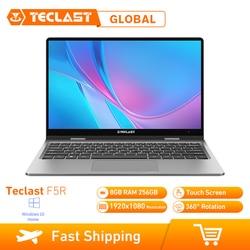 Ноутбук Teclast F5R 11,6 дюймов ОС Windows 10 Intel APOLLO LAKE N3450 четырехъядерный процессор 1,1 ГГц 8 Гб ОЗУ 256 ГБ SSD сенсорный экран HDMI