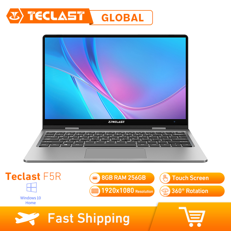 Teclast F5R Laptop 11.6 Polegada Windows OS Intel APOLLO 10 LAGO N3450 8GB de RAM Quad Core 1.1GHz CPU 256GB SSD HDMI Tela De Toque