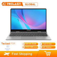 حاسوب محمول tecpost F5 بشاشة 11.6 بوصة 360 درجة نظام تشغيل ويندوز 10 OS Intel Gemini Lake N4100 Quad Core 1.1GHz CPU 8GB RAM 256GB SSD شاشة لمس HDMI