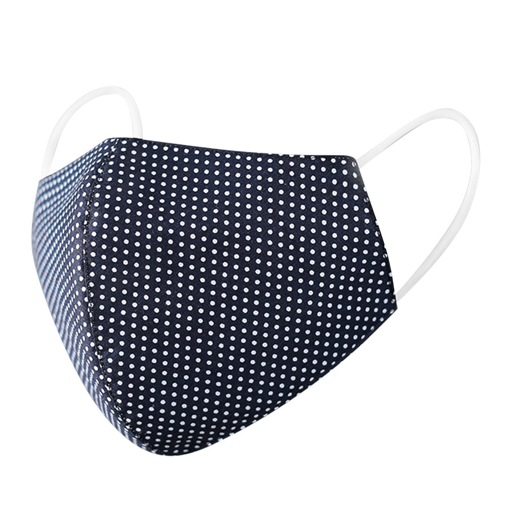 #H30 Dot Print Cotton PM2.5 Anti Haze Mask Anti dust mouth mask Washable Reusable Filter Mouth-muffle Mask Fabric Face Mask