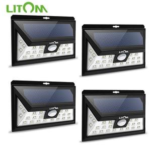 Image 1 - Litom cd013 24 led 태양 광 모션 센서 와이드 앵글 led 램프 정원 야드 벽 태양 광 전원 야외 조명 3 조절 모드
