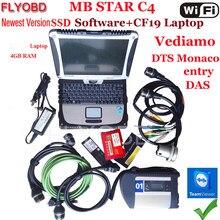 S + + qualidade mb estrela c4 sd conectar com software novo 2021-3v ssd portátil cf19 trabalho para estrela diagnóstico c4-ferramenta kit completo