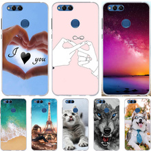 For Huawei on Honor 7X Case Silicone Ultra Thin Cover Cute Cat Animal Bags Huwei Huawe Honor7x Phone Cases