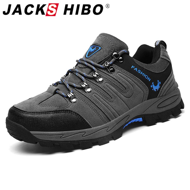 Jackshibo Men Hiking Upstream Shoes Boots Trekking Tourism Boots Camping Shoes Outdoor Mountain Climbing Sports Sneakers For Men