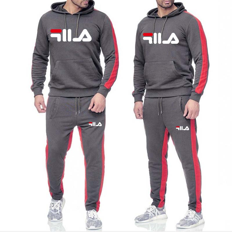 2019 New Explosion Models Men's Sportswear 2 Sets Of New Fashion Sportswear Men's Sports Pants Hoodie Spring And Autumn