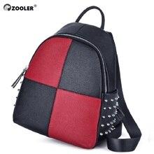 2019 new COW leather backpack Genuine Leather backpacks girls patchwork school bag travel tote bag high quality Bolsas#lt235 цены онлайн