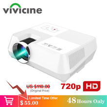 Vivicine Android HD Proyektor 1280X800 Piksel Nirkabel Wifi Miracast Airplay Bluetooth Opsional Portabel 1080 P TV PC Rumah beamer(China)