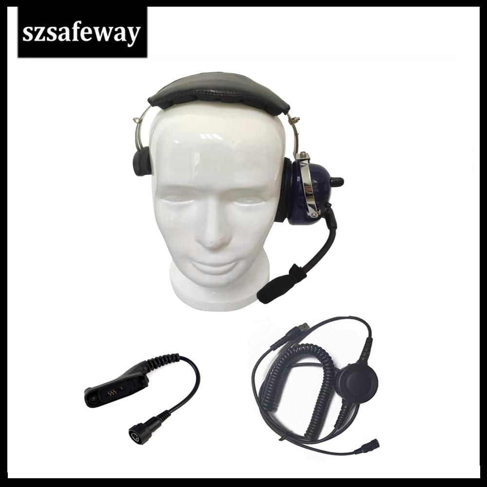 Walkie Talkie Headphone Noise Cancelling Headset For Motorola DP3400 DP4801 APX7000 XPR6500 XPR6550 XPR7000 XPR7550  XiR P8200