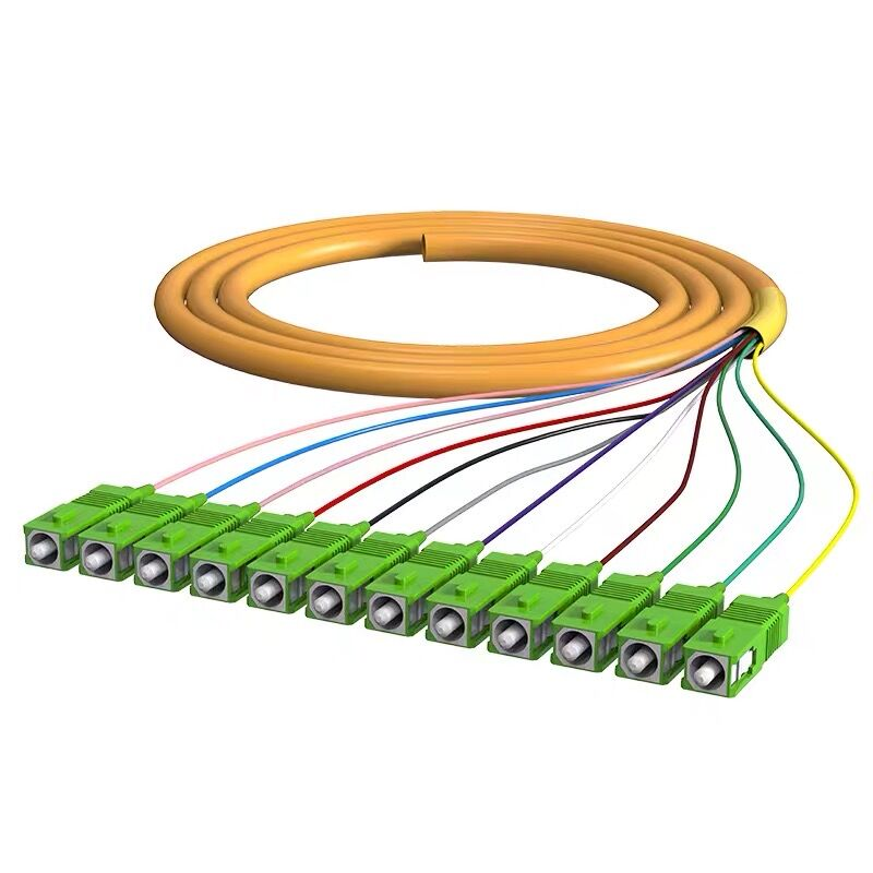 12 Strand 9/125 Fiber Optic Pigtail SC/APC Single Mode,12 Fiber Pigtail 1-3 Meters Free Shipping Buy More And Save More