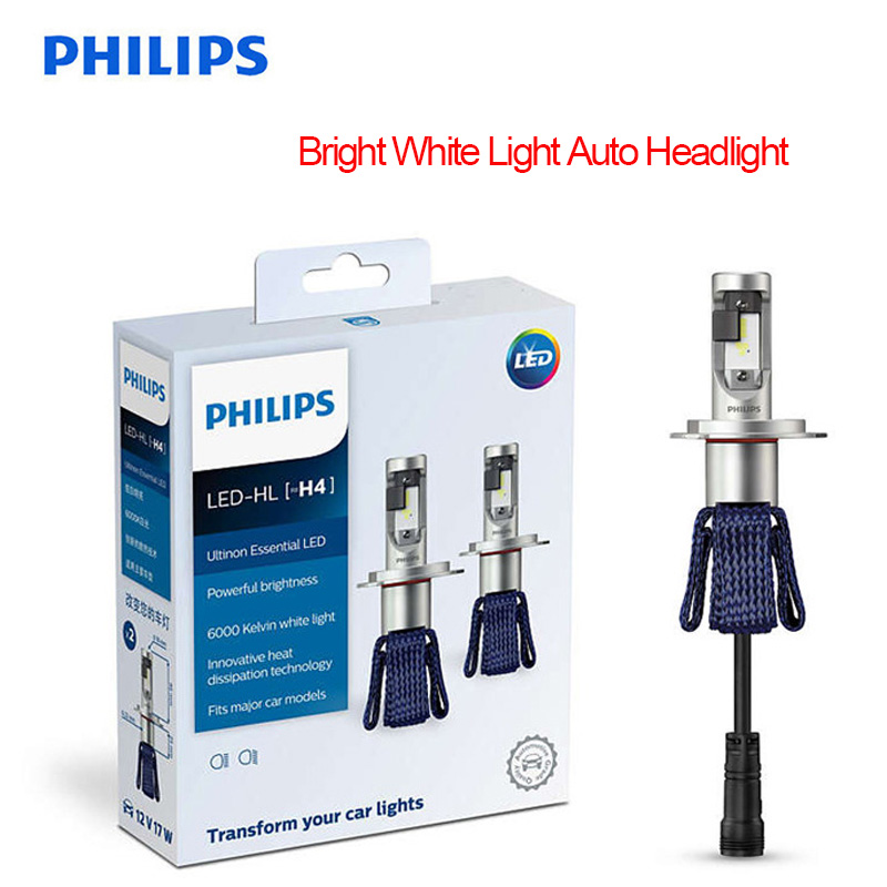 <font><b>Philips</b></font> Ultinon Essential <font><b>LED</b></font> H4 <font><b>H7</b></font> 9003 <font><b>LED</b></font> Car Hi/lo Beam 6000K Bright White Light Auto <font><b>Headlight</b></font> H8 H11 H16 9005 9006 HB3 HB4 image