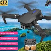 Dron teledirigido 4K HD con cámara Dual, Dron cuadricóptero plegable con cámara Dual, WIFI, FPV, rollo de acrobacias 3D, disparo de gestos/grabación de regreso con una sola tecla
