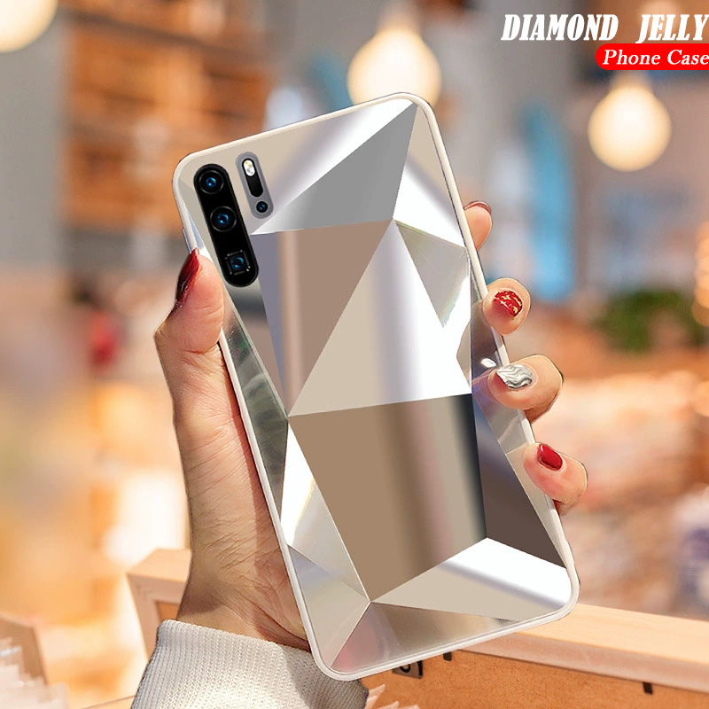 Diamond 3D Mirror Case For Samsung Galaxy A71 A51 A70 A50 A30 A20 A9 A7 A6 2018 S20 Ultra S10E S9 S8 Plus Note 10 Glitter Cover
