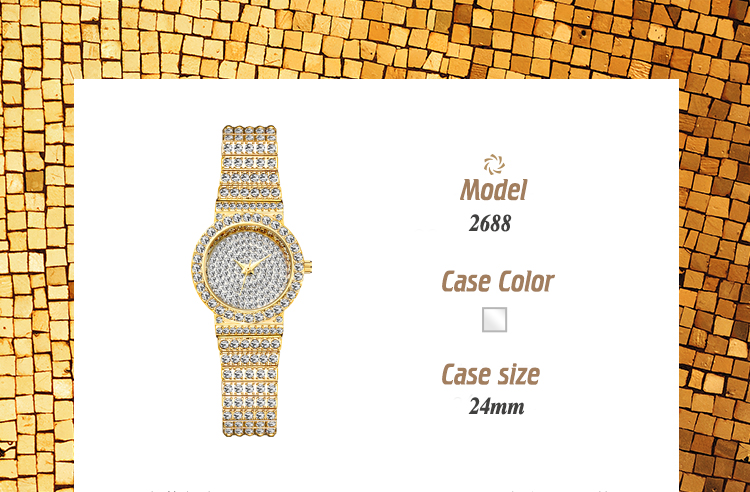 Marca de Luxo Relógio de Diamantes Mulheres