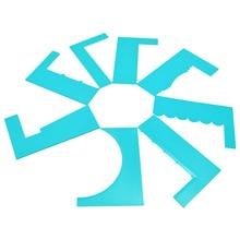 DIY Хлебобулочные приборы 8 сливочный вид декоративного узора скребок торт крем штукатурки пластиковые Кухонные инструменты
