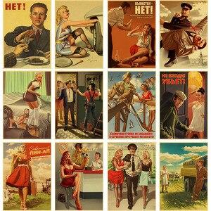 5D Сталин СССР CCCP Ретро плакат Алмазная картина ретро-плакаты DIY Алмазная вышивка мозаика домашнее барное Кафе Декор комнаты