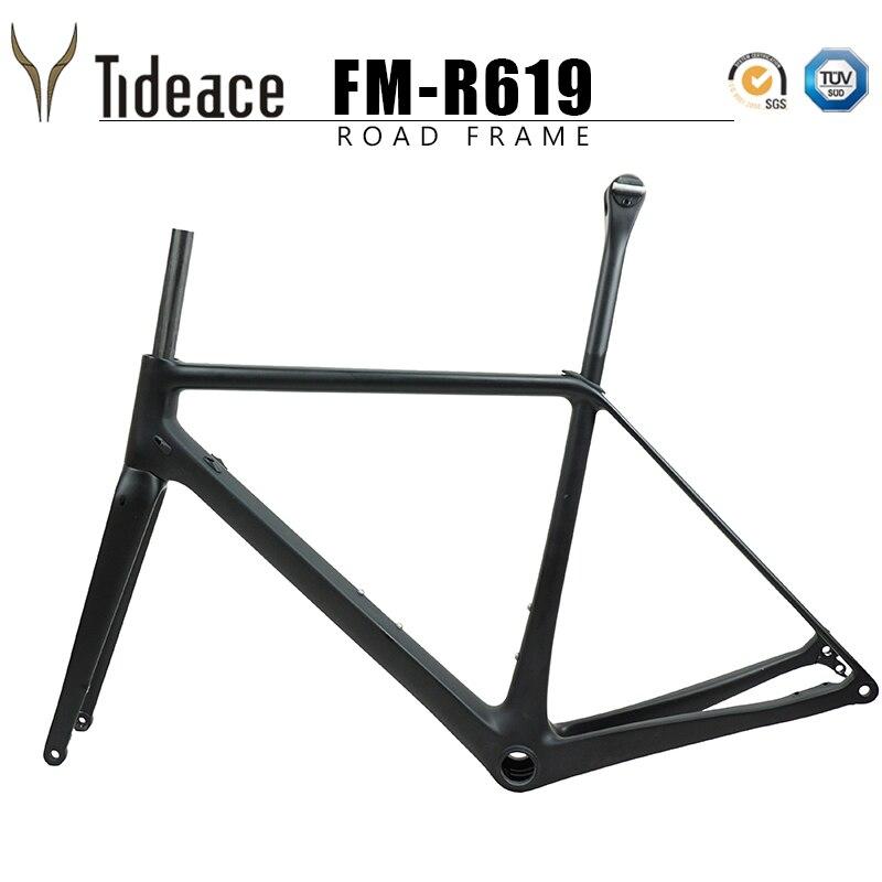 Super Light 52 54 56cm T1000 Full Carbon Fiber Only 900g Aero Oem Road Bike Frames Fork Seatpost Bicycle Frameset