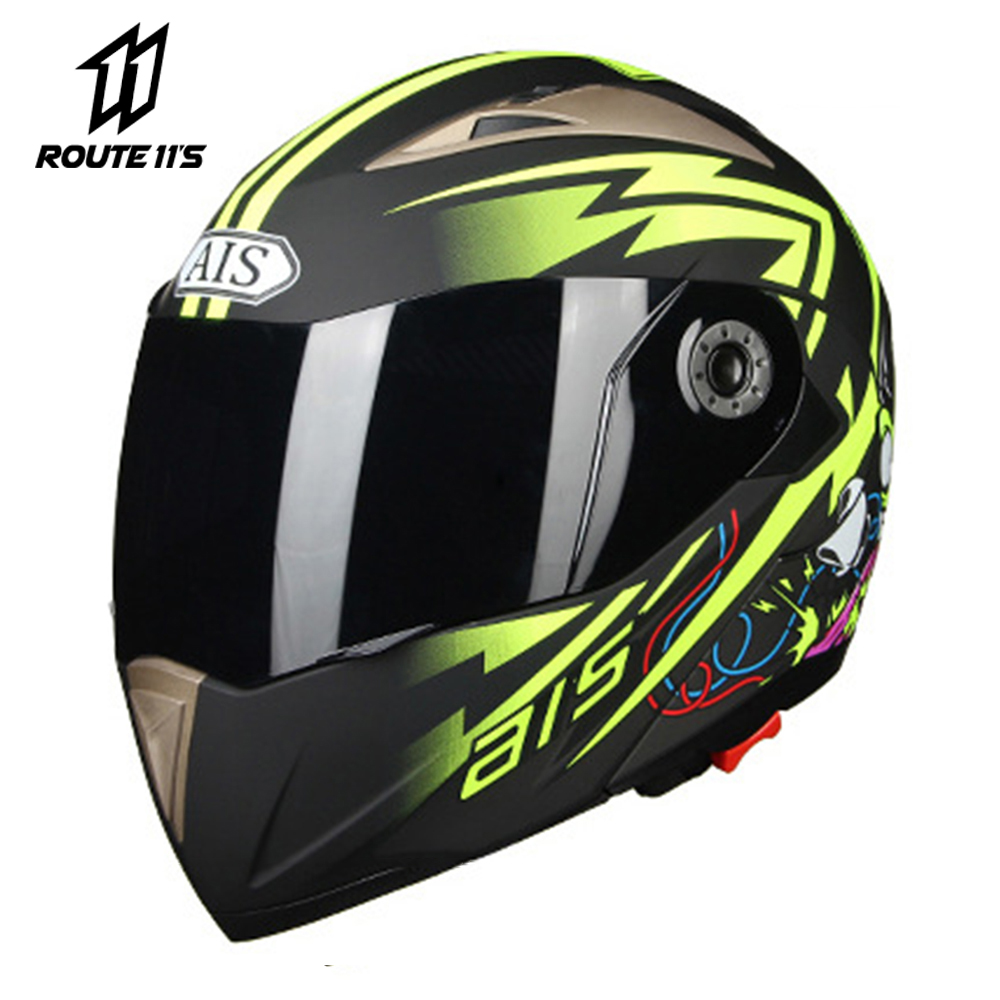 Cara cheia Capacete Da Motocicleta Motobiker Motocross Capacete Com Viseira de Sol Interior Motocicleta Modular Virar Para Cima Capacetes Capacete Casco
