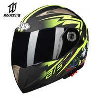 Full Face Motorcycle Helmet Motobiker Helmet With Inner Sun Visor Motorcycle Modular Motocross Flip Up Helmets Capacete Casco
