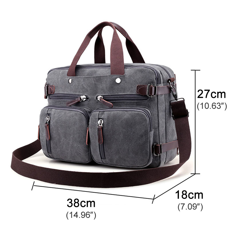 Mens Vintage Briefcase Satchel Mens PU Leather Laptop Bag Huge Shoulder Bag Waterproof Business Messenger Briefcases for Women Multi Functional Crossbody bag Fits 14 13 Inch Laptop Office Briefcase
