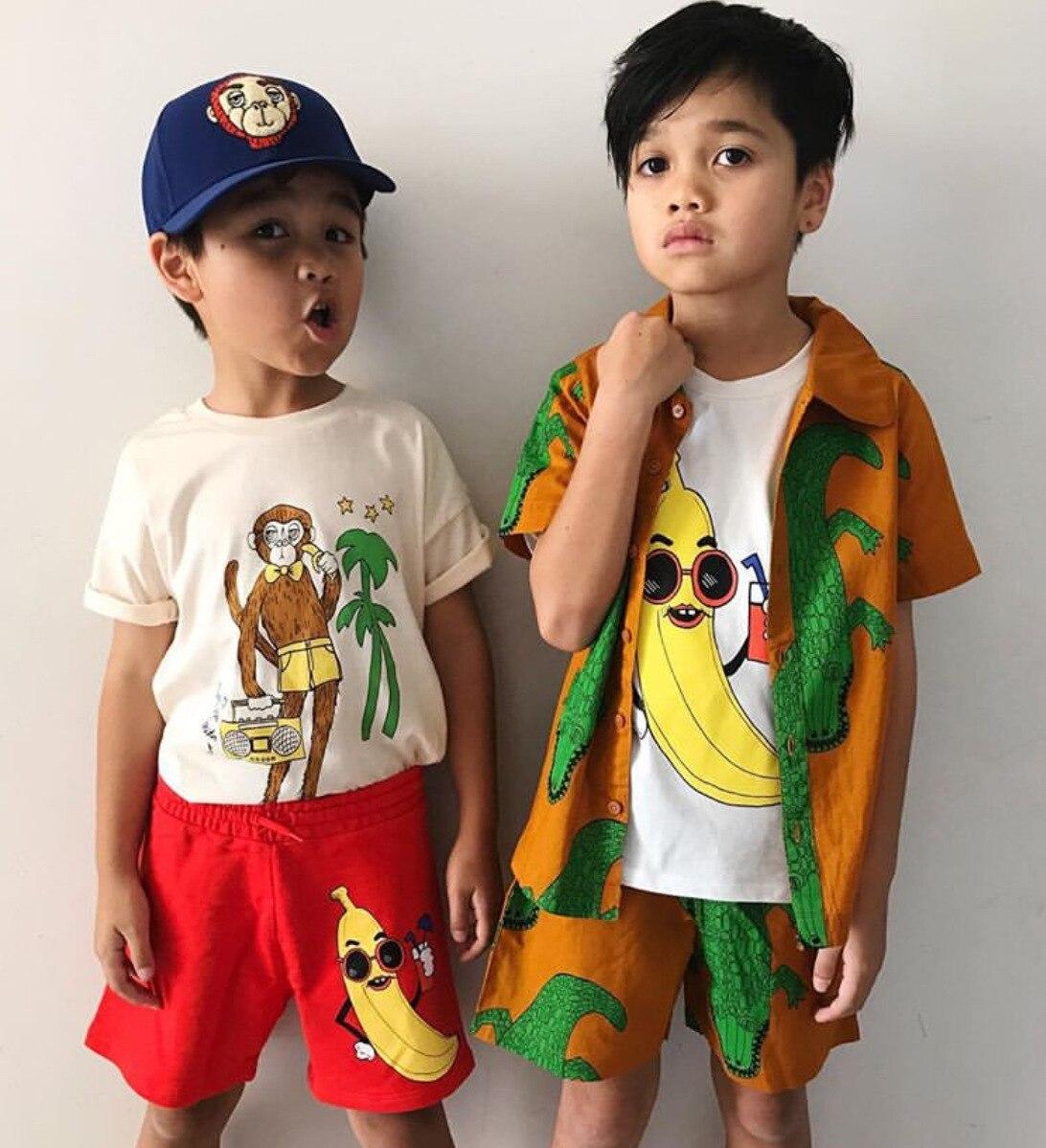 2021 New Summer Mini Kids T-shirts Baby Girls Clothes Cartoon Short Sleeve Toddler Christmas Shirt Striped Shirt Boys Tops Tees 4