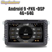 PX6 DSP HD ips 8 ''Android 9,0 4G 64G радио BT карта Wifi TPMS автомобильный DVD gps плеер для VW POLO GOLF PASSAT B5 B6 Tiguan 2004-2012