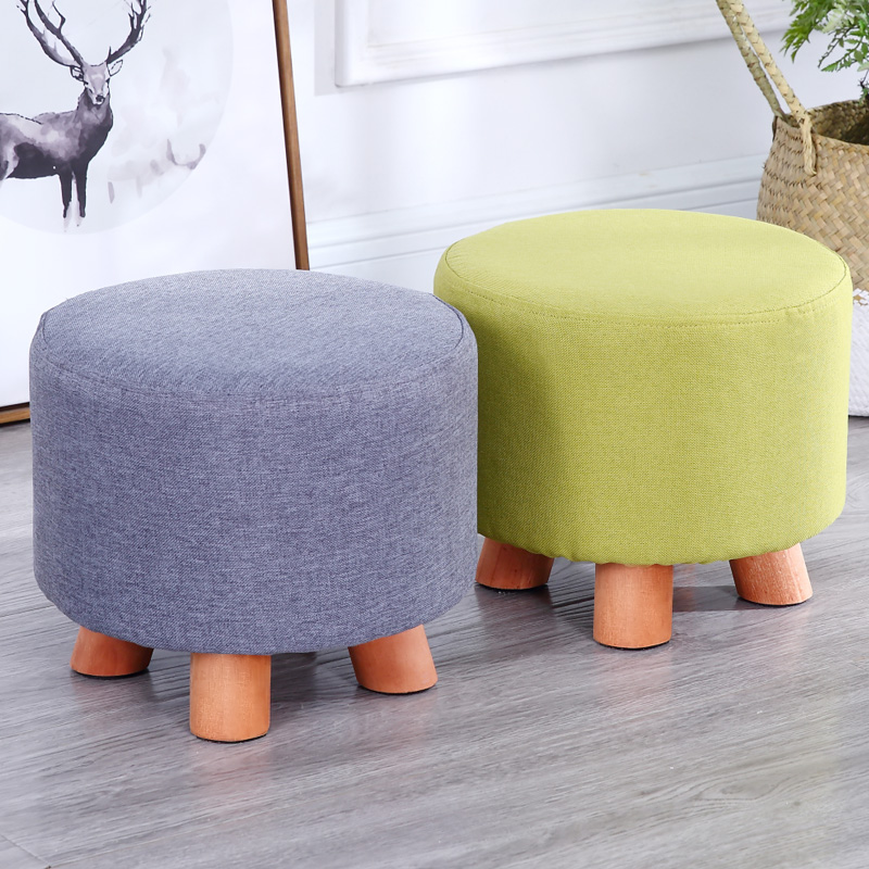 Small round stool modern living room sofa bench fashion household bench creative small chair short Dunzi Minimalist Modern