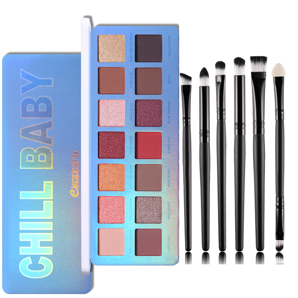 Cmaadu Chill Baby 14 Colors Eyeshadow Makeup Palette Shimmer Matte Nude Shining Waterproof Smoky Eye Shadow Powder Cosmetics