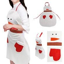 Рождественский снеговик, водонепроницаемый фартук, кухонный фартук для кармана, для женщин и мужчин, фартук для рождественского ужина, вечерние фартуки, украшение