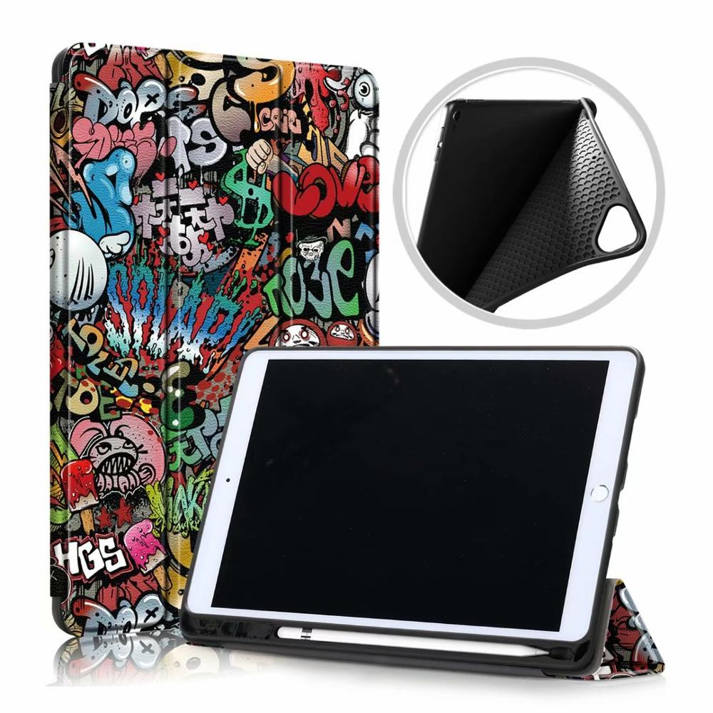 Colored Yellow Ultra Slim Coque For iPad 10 2 2019 Case A2200 A2198 A2232 Smart Magnetic Folding Stand
