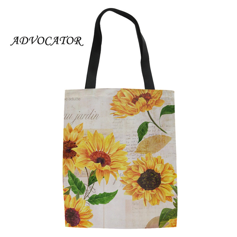 Sunflower Tote Shopping Bag For Life Sunflowers Floral Flower