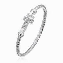 Посеребренные ювелирные изделия модный серебристый браслет в