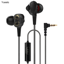 Dual Drive Stereo Wired earphone In-Ear Sport Headset With Mic mini Earbuds Earphones For Samsung S8 Huawei mate 20 Xiaomi 9