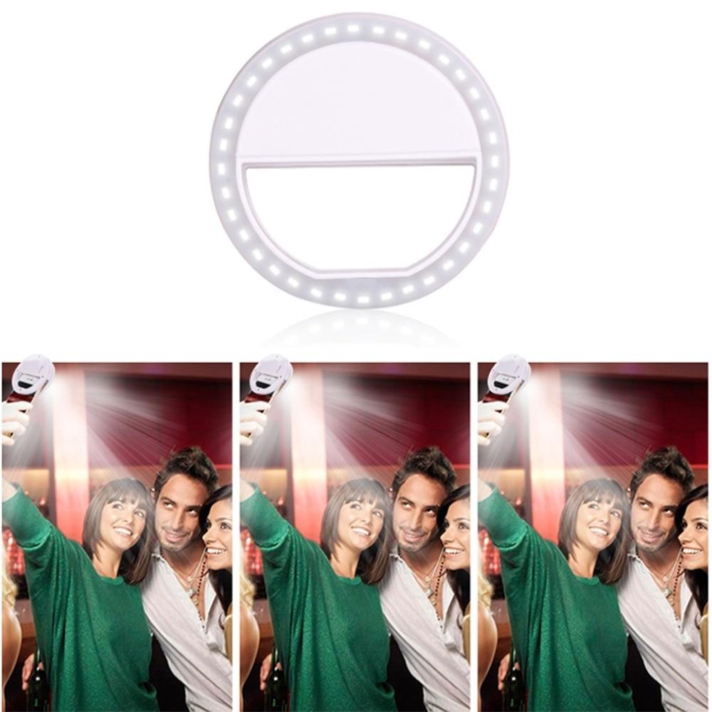 H08d7ee4e678c400a8ffe62e25d4f9d50h - Universal Selfie LED Flash Ring Light Portable Lamp Mobile Phone Lens For iPhone Xiaomi mi9t Samsung S10 S9 Luminous Ring Clip