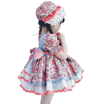 2PCS Baby Girls Spanish Dress for Kids Royal Frocks Children Princess Birthday Dresses Party Bow Lace Robe Fille Girl Clothing summer girls formal wedding birthday party bow dresses princess bridesmaids children clothes for kids baby clothing girl dress