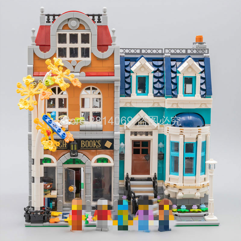 Pre-sale 10270 Bookshop 2524Pcs Creator City Street View Model Building Kits Blocks Bricks Toys Children Gift Compatible 10201