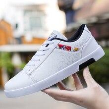 Alta qualidade da marca dos homens sapatos casuais venda quente primavera outono novos sapatos casuais masculinos respirável moda preto sapatos casuais brancos
