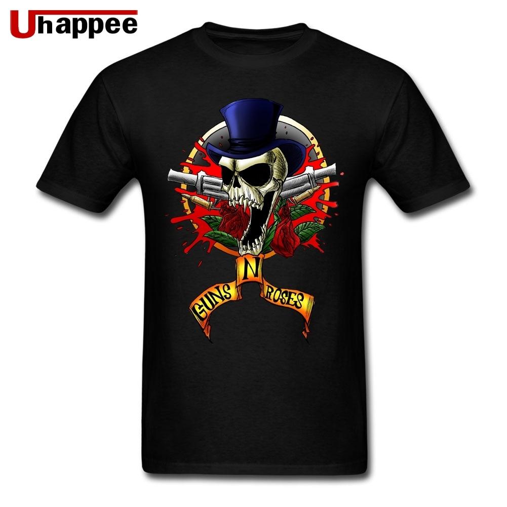 Swag Guns N Roses Tshirt for Men 80S Vintage Tshirt Couple Custom Made Tees Shirt Short Sleeve Soft Cotton Crew Tshirt
