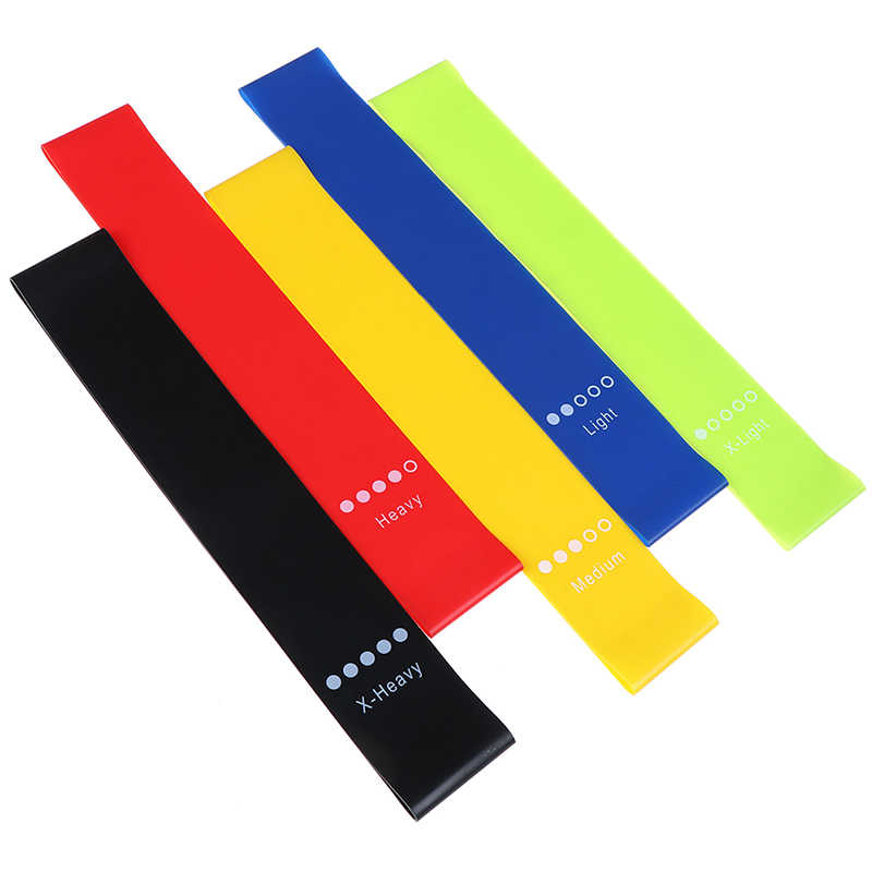 Yoga Resistance Rubber Bands Indoor Outdoor Fitness Equipment 0.35mm-1.1mm Pilates Sport Training Workout Elastic Bands 5 Colors
