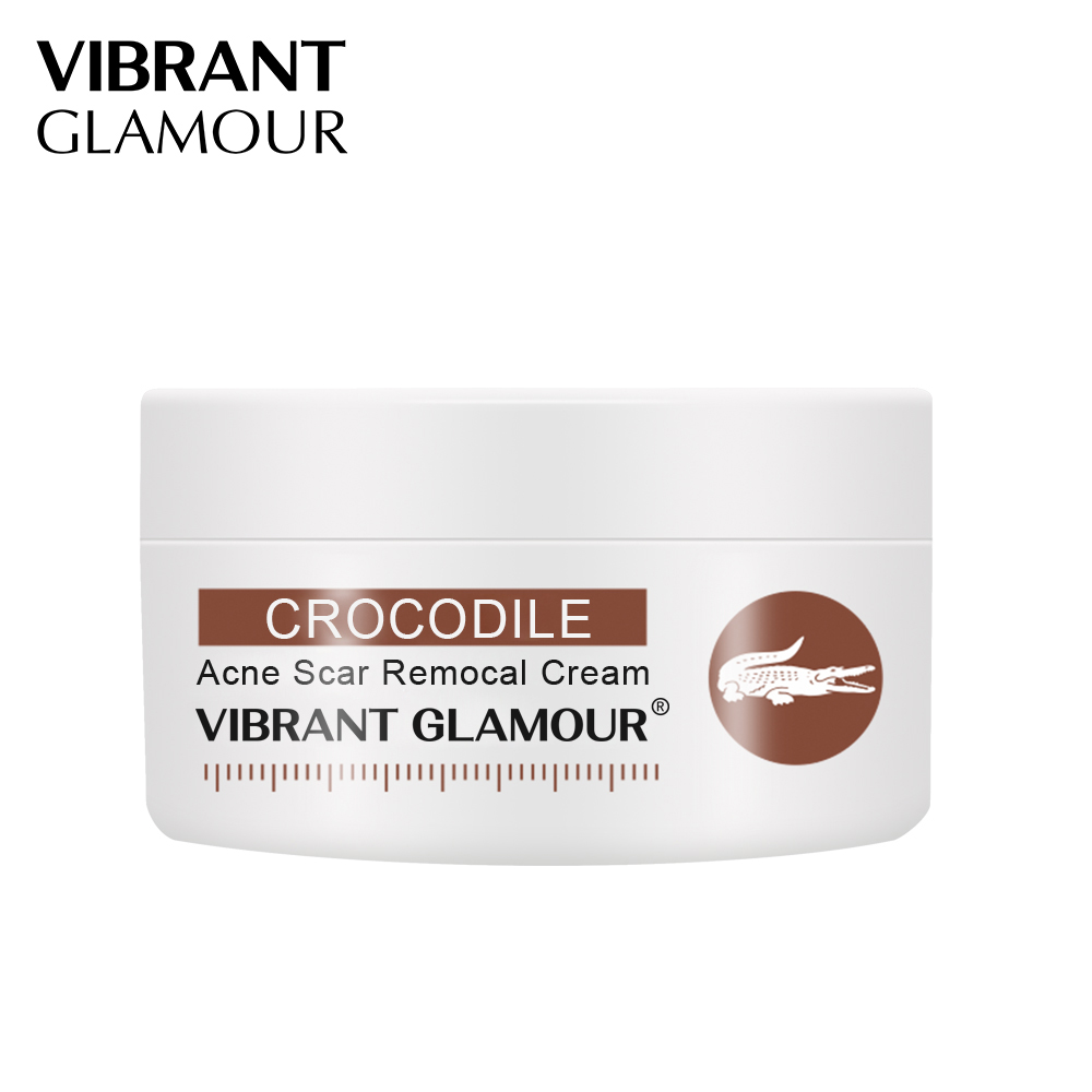 VIBRANT GLAMOUR Crocodile Repair Scar Anti - Aging Face Cream Moisturizing Removal Acne Scar Oil-Control Shrink Pores Skin Care
