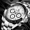 2019 PAGANI дизайнерские брендовые Роскошные мужские часы  кварцевые белые часы  мужские водонепроницаемые Бизнес Спортивные часы из нержавеющ...