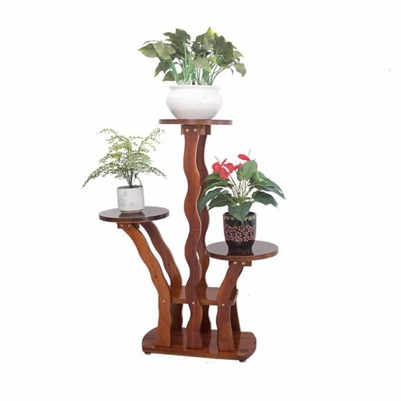 Estanteria Para Plantas Rak Bunga Saksi Standi Wooden Shelves For Stojak Na Kwiaty Outdoor Dekoration Shelf Flower Stand